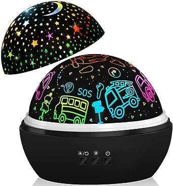 Lámpara de proyector,proyector de coches y estrellas,regalos de ...