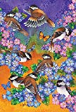 Cheap Toland Home Garden Chickadee Welcome 28 x 40 Inch Decorative Colorful Spring Summer Flower Bird House Flag