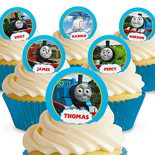 Cakeshop 12 x PRE-CUT Thomas the Tank Engine & Friends Edible Cake Toppers -