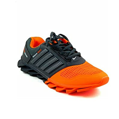b407e6aca843 Air Spring Blade Sports Shoes Orange Grey 8UK  Buy Online at Low Prices in  India - Amazon.in