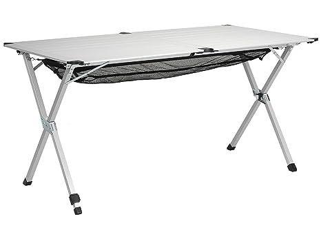 Tavolo Campeggio Alluminio Avvolgibile.Tavolo Da Campeggio 110x70x70 Alzata Avvolgibile