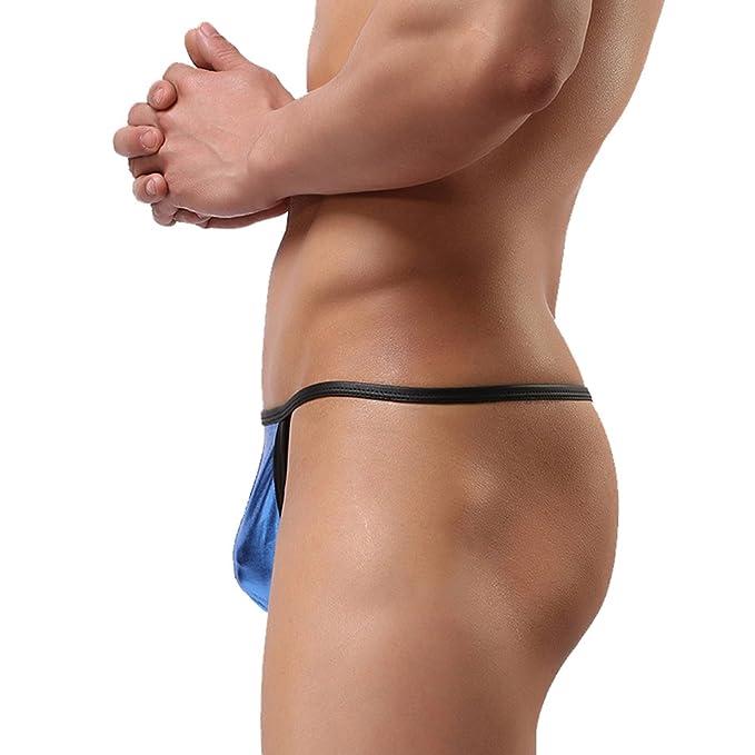 Tenchif Calzoncillos metlicos para hombre tanga tanga Blusas para bikini t-back: Amazon.es: Ropa y accesorios