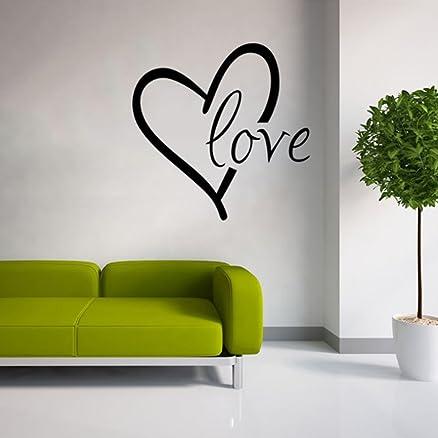 extsud adesivo murales carta da parete, diy scritta love cuore ... - Stickers Per Camera Da Letto