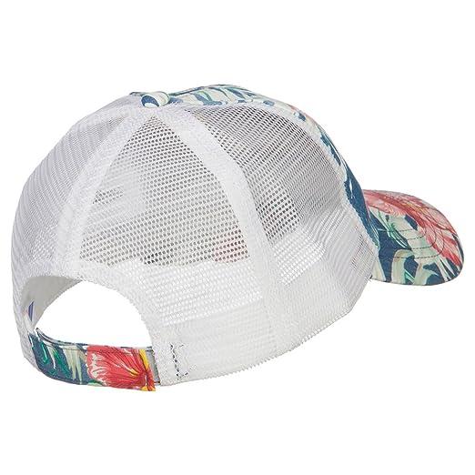 2407628c82e E4hats Floral Print Mesh Cap - Blue OSFM at Amazon Women s Clothing store
