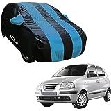 Autofurnish Aqua Stripe Car Body Cover Compatible with Hyundai Santro Xing - Arc Blue