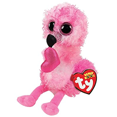 TY36686 Beanie Boo's Dainty The Flamingo Soft Toy 15 cm, Multi-Coloured: Toys & Games