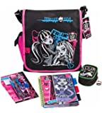 Monster High- Filled School Messenger Bag. - Mochila  negro