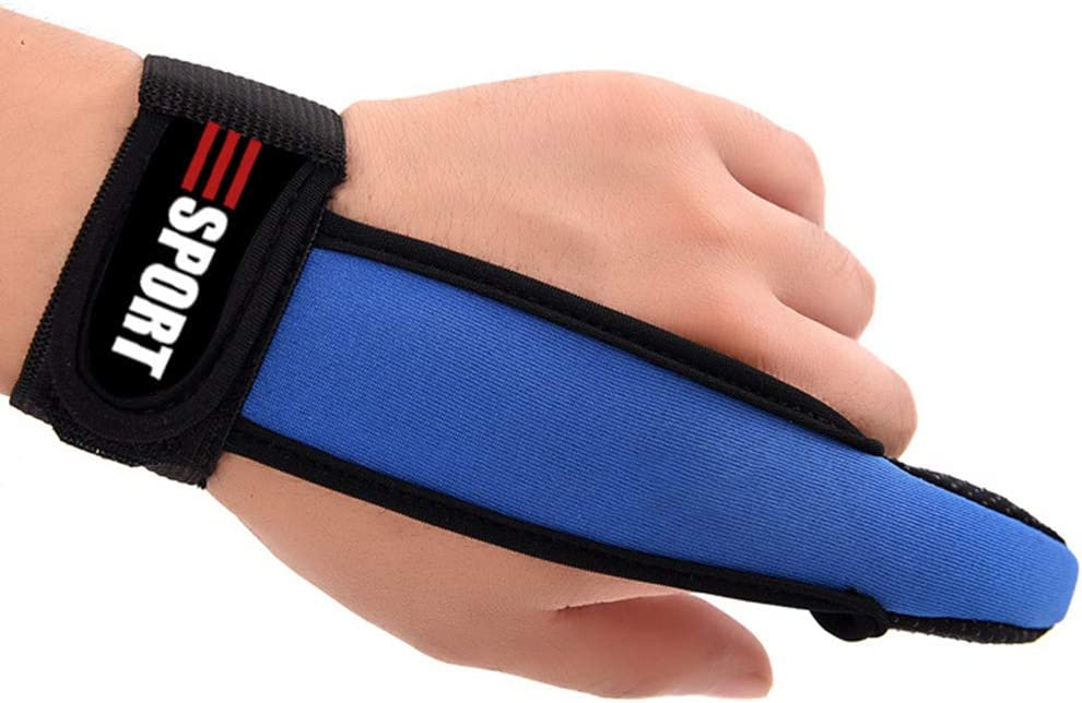 LIOOBO 3Pcs Fishing Gloves Single Finger Protector Casting Finger Glove for Surfcasting Sea Accessories Tools Red Blue and Black
