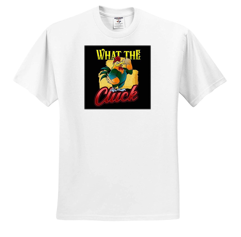 What The Cluck Funny Farmer Chicken Farm 3dRose Sven Herkenrath Farmer Adult T-Shirt XL ts/_316714