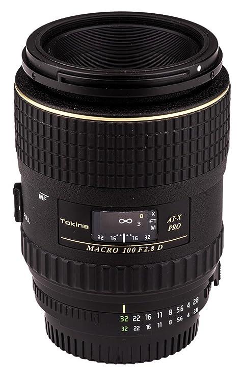 Tokina ATXAFM100PRON 100mm f/2 8 Pro D Macro Autofocus Lens for Nikon AF-D,  Black