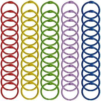 Amazon.com : WINKO Colored Book Rings, 50 Pcs 1.2 inch Multi-Color ...