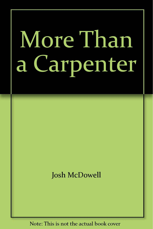 more than a carpenter josh mcdowell pdf