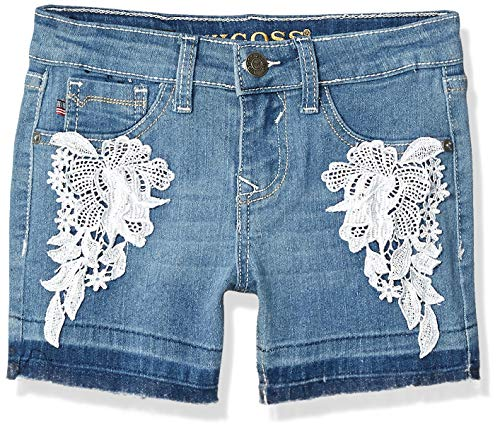 VIGOSS Girls' Big Fashion Short, Antique Crochet Brite Blue, 16