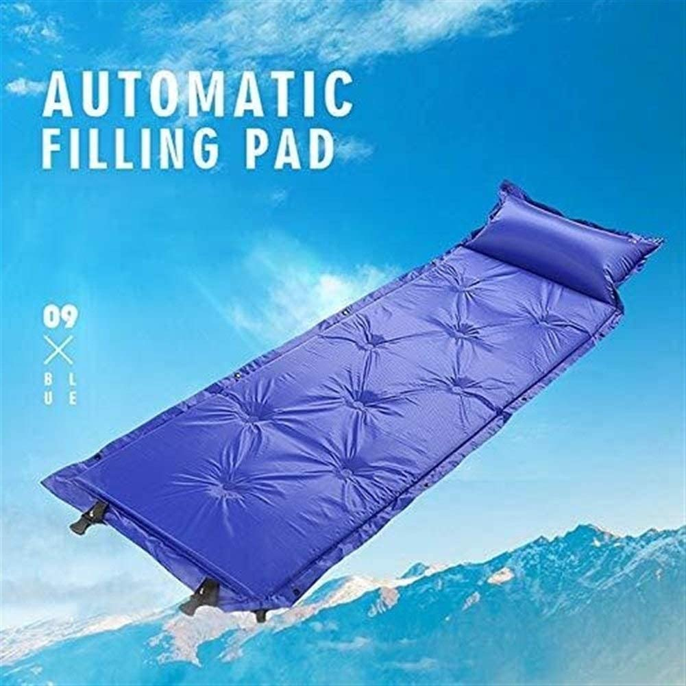 Lzdingli Outdoor Camping Ausr/üstung Automatisch Isomatte Camping Pad mit Kissen Luftmatratze Tasche Kompakt Strandmatte Sandmatte for Erwachsene f/ür Camping Enthusiasten