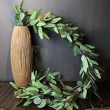 Woooow 5 Feet Seeded Eucalyptus Garlandeucalyptus Leaves Runner Table Garland Artificial Eucalyptus Greenery Garland