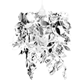 Lustre Paillettes Feuilles 21,5 x 30 cm Argenté
