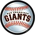 "Amscan San Francisco Giants 9"" Round Dinner Plates"