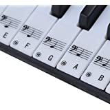 MOOCY Piano Key Stickers Removable 49 61 76 88 Keyboard Note Decals for Beginners