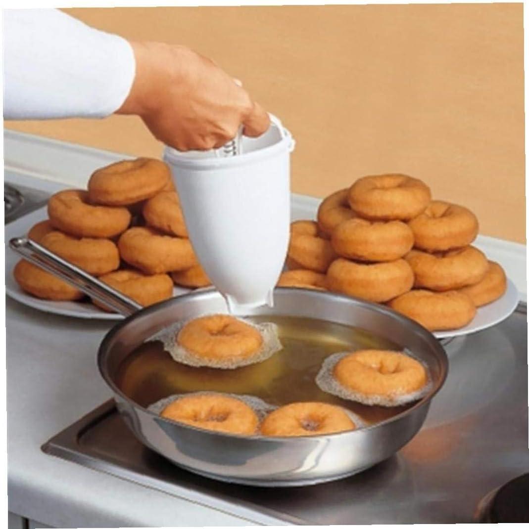 Romote 1pc K/üche Kunststoff Batter Dispenser DIY Donut Maker Donut-pl/ätzchen-t/örtchen Die Werkzeuge N/ützliche Bakeware Backen Verzieren Werkzeuge