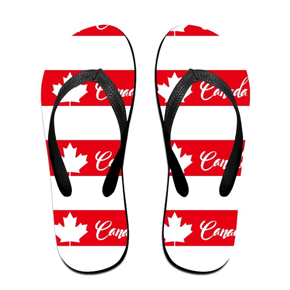 Tailing Flip Flops Canda Maple Leaves Stripe Unisex Trendy Print Slippers Beach Sandal