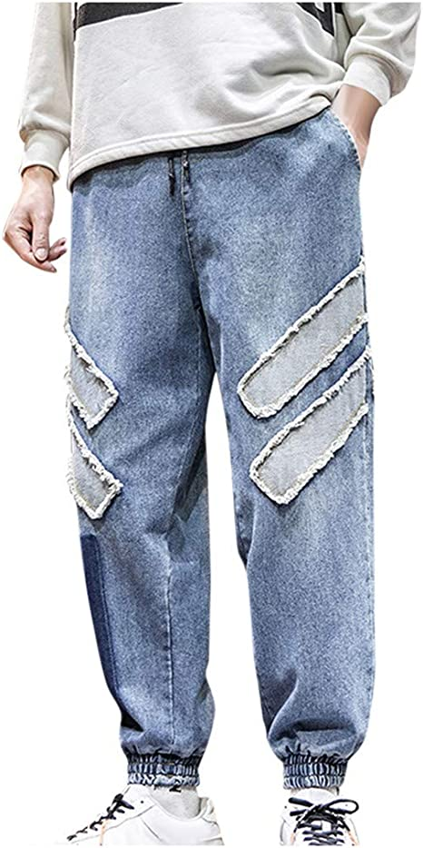Briskorry Baggy Pantalones Vaqueros Para Hombre Elasticos Estilo Joker Pantalones De Chandal Xx Large Azul Amazon Es Electronica