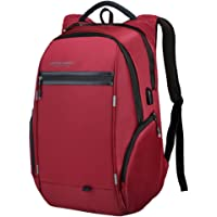 LUXUR 37L Casual Laptop Backpack with USB Charging Port