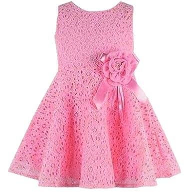 3b4702ac2a8a WINWINTOM Girls Full Lace Floral One Piece Dress