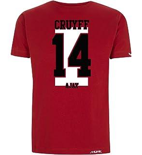 Münk - Johan Cruyff AJAX - Camisetas de diseño Retro fútbol Vintage - Muñeco Recortable Gratis