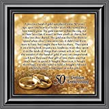 Elegantly Yours Bands of Gold, 50th Wedding Picture Frame, 10x10 8608B