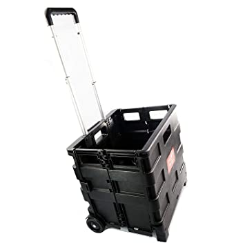 25 kg la compra plegable con ruedas carro plegable caja para almacenamiento de equipaje zizzi: Amazon.es: Hogar