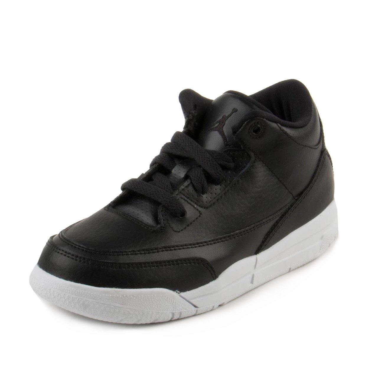 588df00443fc44 Nike Boys Air Jordan 3 Retro BP Black White Leather Size 12. 5C  Buy Online  at Low Prices in India - Amazon.in
