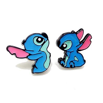 Caringa - Pendientes de Lilo y Stitch - Ohana: Amazon.es ...