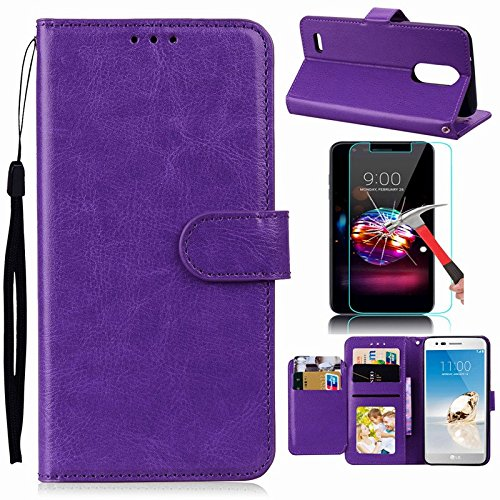 LG Stylus 4 Case, LG Q Stylus Case, LG Stylo 4 Case With Screen Protector, I VIKKLY [Kickstand] Magnetic Snap Premium PU Leather Wallet with Card Slot Folio Flip Case for Stylo 4 (2018) (Purple) by I VIKKLY (Image #10)