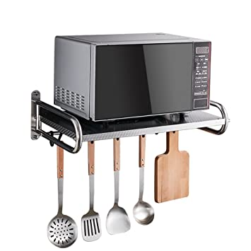 JIAYIBAO Estante De Cocina 304 Horno De Microondas De Acero Inoxidable Espejo De Pared (Tamaño