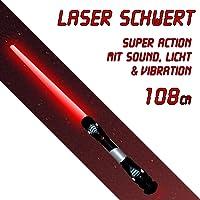 108cm espada láser Sable Láser Acción con sonido Luz en rojo VIBRACIÓN