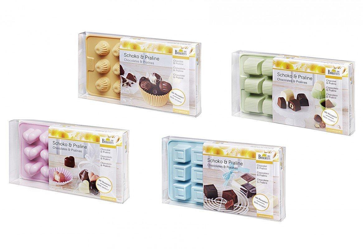 Birkmann Praline Mould Heart for 15 Chocolates, Silicone, Pink, 21.8 x 12 x 3 cm RBV Birkmann 251908
