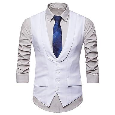 TIFIY Chalecos de Vestir Modernos Hombre Delgada Color ...