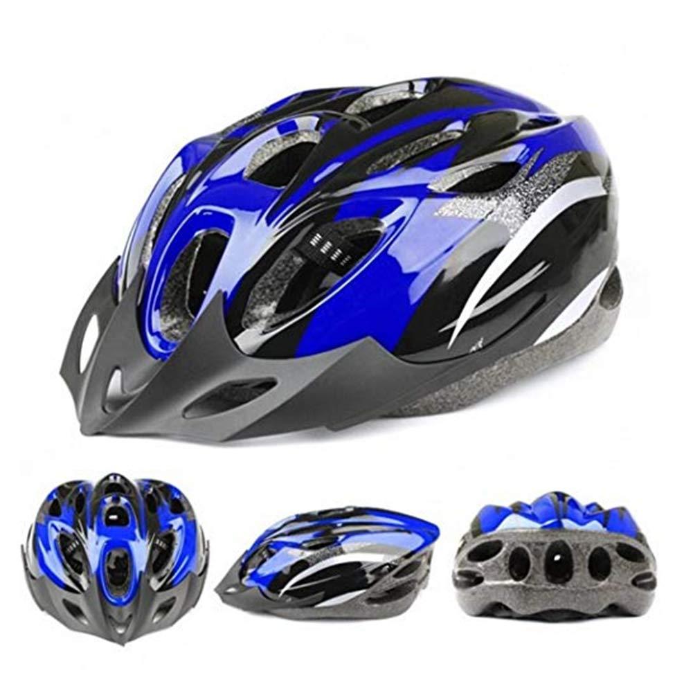 CDKJ Casco para Bicicleta Unisex Casco Ligero c/ómodo Casco de Carretera de monta/ña Casco de la Bici Azul y Negro