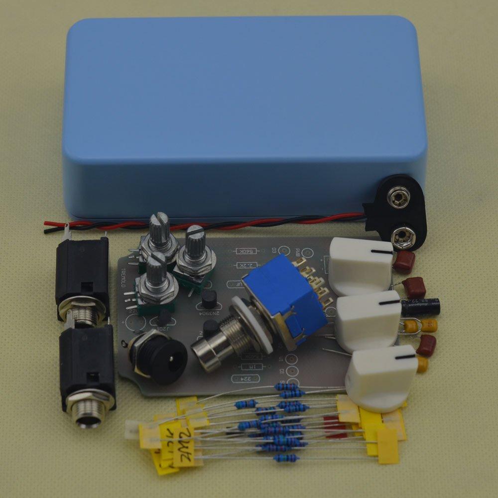 TTONE DIY Tremolo Pedal Electric Guitar Effect Pedals True Bypass Light Blue