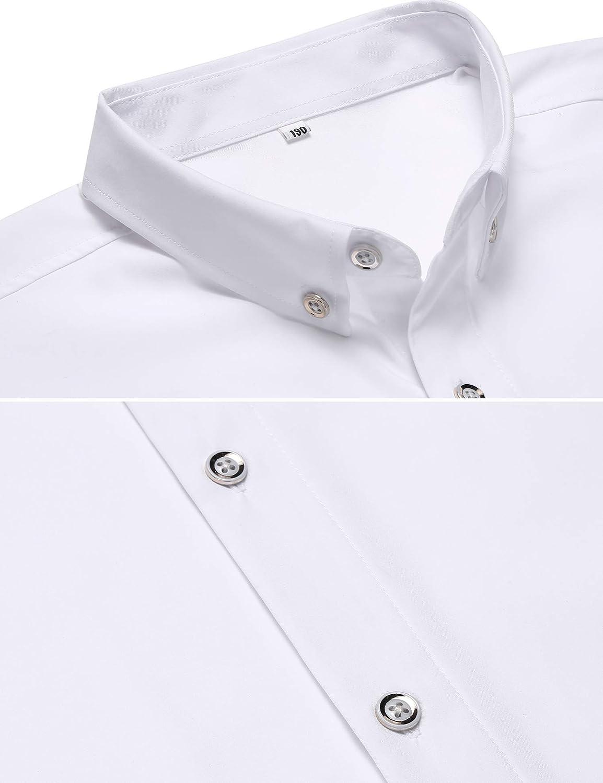 Jeopace Dress Shirts for Men Long Sleeve Big and Tall Button Down Shirts L XL 2XL 3XL 4XL
