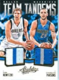 2015 Absolute Memorabilia Authentic Dirk Nowitzki & Chandler Parsons Dual Game Worn Jersey Patch Card