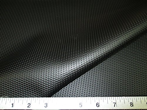 Discount Fabric Marine Vinyl Outdoor Upholstery Black Pantera Diamond MA11 - Black White Upholstery Fabric