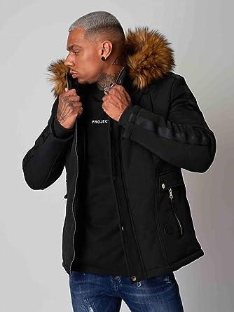 Manteau parka à bandes Homme Project X Paris