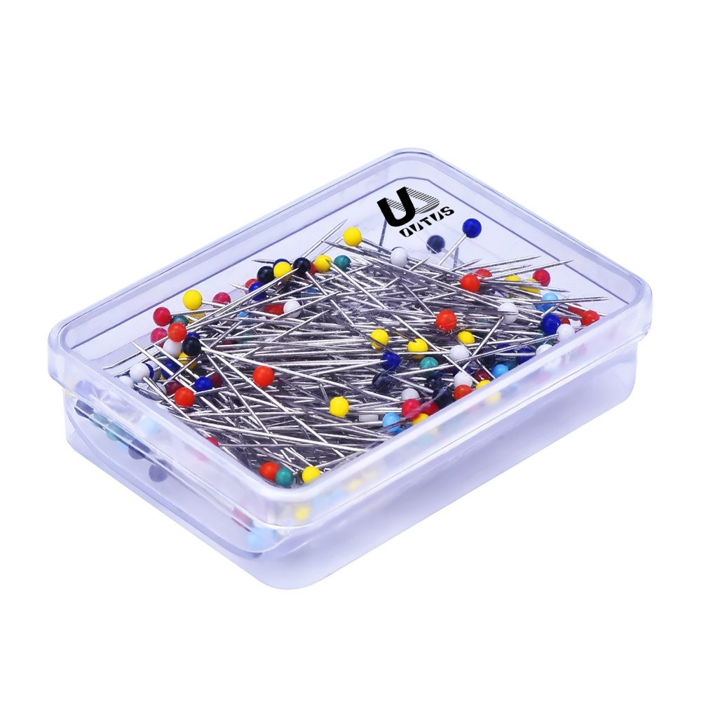 250 Pieces Glass Head Pins Boxed for Dressmaker White