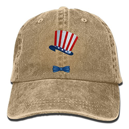 Flag America Bow Tie Hat Unisex Funny Adjustable