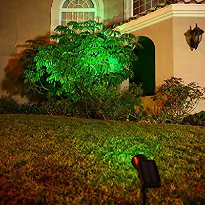 Rhino Upgraded Solar Lights, Green Light for Your Garden Trees, Waterproof Outdoor Landscape Lighting Spotlight Tree Light Auto On/Off for Garden Trees and Landscape : Garden & Outdoor
