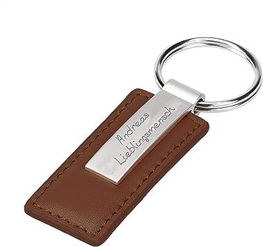 Personalisierter Schlüsselanhänger Mit Gravur Leather Key Kunstleder Anhänger Für Schlüssel Mit Hochwertiger Lasergravur Geschenk Für Männer Und Frauen Braun Amazon De Koffer Rucksäcke Taschen