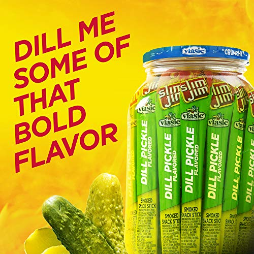 Slim Jim Giant Dill Pickle Smoked Meat Snack Sticks, 0.97 oz. 24-Count