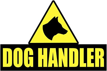 WORKING DOGS Sticker Head K9 Unit dog Handler SECURITY SIA PATROL Warning
