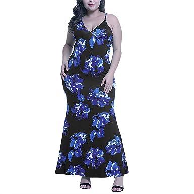 VEMOW Falda Larga Mujer Vestido Largo Camisero sin Mangas con ...